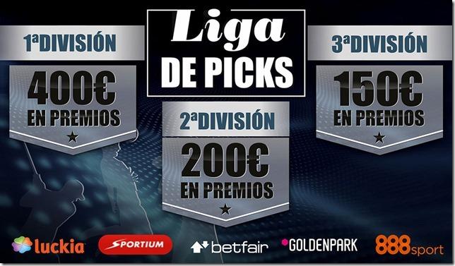 #LigaPicks 750€ en juego y 3 divisiones