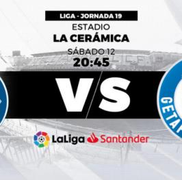 Partido de Fútbol de La Liga Santander Villareal vs Getafe