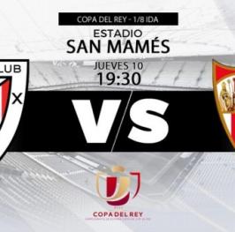 Partido de Fútbol Copa del Rey Athletic de Bilbao vs Sevilla