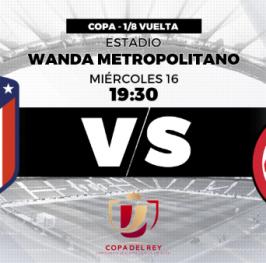 Partido de Fútbol Copa del Rey Atlético de Madrid vs Girona
