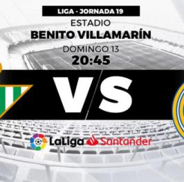 Partido de Fútbol La Liga Santander Real Betis vs Real Madrid