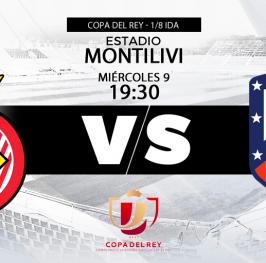Partido de Fútbol Copa del Rey Girona vs Atlético de Madrid