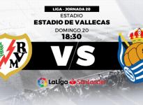 Partido de Fútbol Liga Santander Rayo Vallecano vs Real Sociedad
