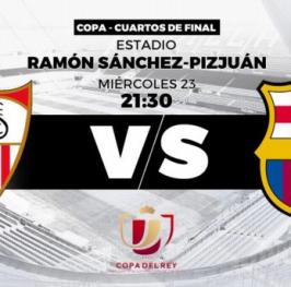 Partido de Fútbol Copa del Rey Sevilla vs Barcelona