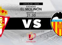 Apuesta de Fútbol Copa Del Rey Sporting de Gijon vs Valencia