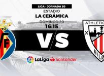 Partido de Fútbol Liga Santander Villareal vs Athletic de Bilbao