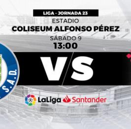 Partido de Fútbol Liga Santander Getafe vs Celta de Vigo