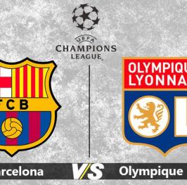 Partido de Fútbol Champions League Lyon vs Barcelona