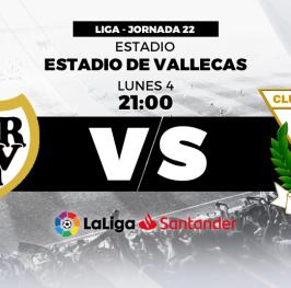 Partido de Fútbol Liga Santander Rayo Vallecano vs Leganes