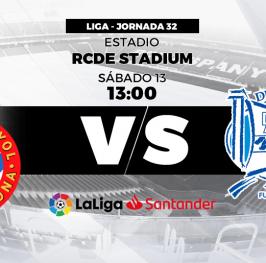 Partido de Fútbol Liga Santander Espanyol vs Alaves