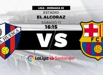 Partido de Fútbol Liga Santander Huesca vs Barcelona