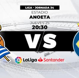 Partido de Fútbol Liga Santander Real Sociedad vs Villareal